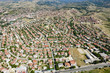 Aerial view of beautiful private houses on town in Macedonia