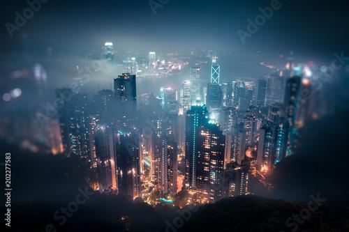 Foto op Canvas Hong-Kong Hong Kong skyline