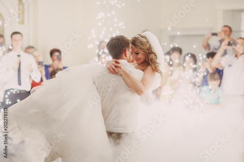 Obraz na płótnie wedding first dance