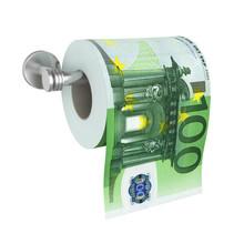 100 Euro Banknotes Toilet Pape...