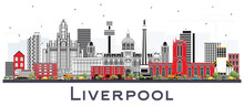 Liverpool Skyline With Color B...