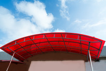 Polycarbonate Canopy On The Porch Of The House