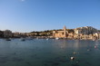 Waterfront of Marsaskala at the Mediterranean Sea, Malta