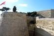 Old city wall of Valletta in Malta