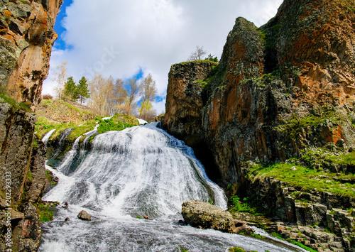fototapeta na ścianę Panorama of Jermuk waterfall on Arpa river in Armenia