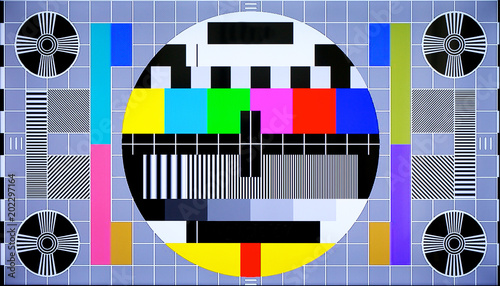 Fotografia  TV multi colored test pattern for digital television