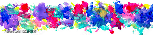 Bright watercolor stains for decoration of posters, typography, flyers and other. Rainbow colors - yellow, red, violet, indigo, blue, pink, red, green. ESP 10 vector,