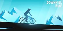 Mountain Biking. Downhill Bike...