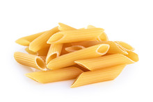 Penne Rigate Pasta Isolated On...