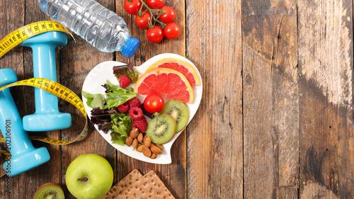 Fototapeta diet food concept obraz na płótnie
