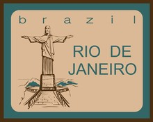 Travel. Trip To Brazil. The City Of Rio De Janeiro. Sketch. The Statue Of Christ The Redeemer. The Design Concept For The Tourism Industry. Vector Illustration.