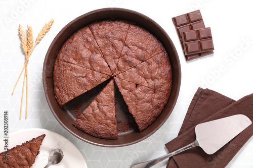 Photo  delicious chocolate pie
