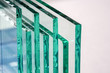 Leinwandbild Motiv Sheets of Factory manufacturing tempered clear float glass panels cut to size