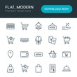Modern Simple Set of hotel, shopping, travel Vector outline Icons. Contains such Icons as reject, restaurant, weight, bill, cart, city and more on white background. Fully Editable. Pixel Perfect