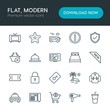 Modern Simple Set of hotel, shopping, travel Vector outline Icons. Contains such Icons as sky, cab, money, transportation, beautiful and more on white background. Fully Editable. Pixel Perfect