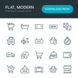 Modern Simple Set of hotel, shopping, travel Vector outline Icons. Contains such Icons as tv, leather, service, display, money, food and more on white background. Fully Editable. Pixel Perfect