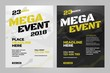 Vector layout design template for sport event.