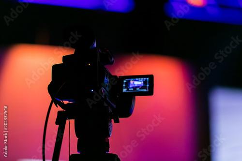 Valokuva  TV Camera on a live film set
