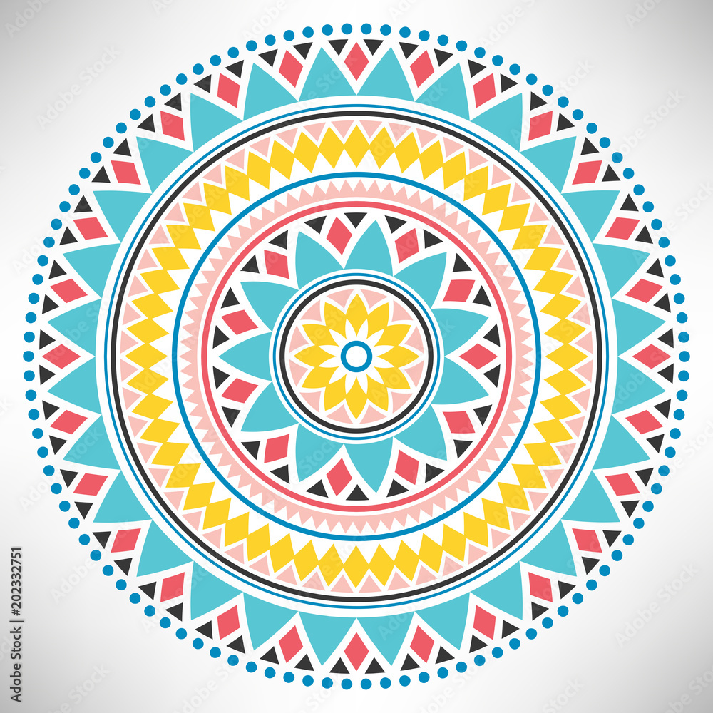Photo  Ornamental round pattern