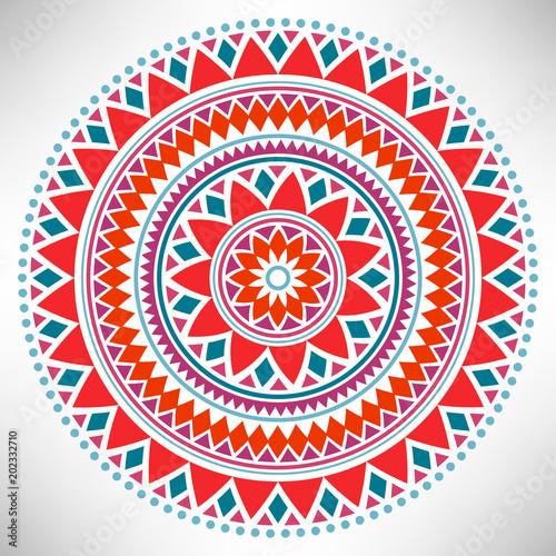 Ornamental round pattern Canvas Print