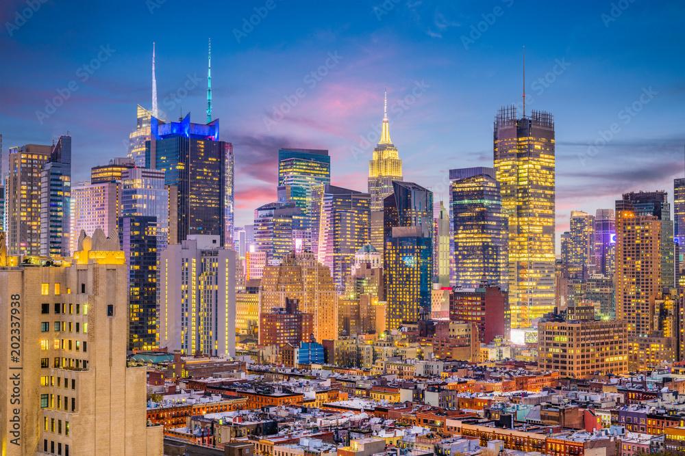Fototapety, obrazy: New York City Midtown Cityscape