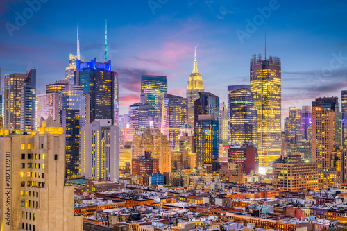 Poster New York New York City Midtown Cityscape