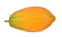 Ripe Papaya Isolated On A Whit...