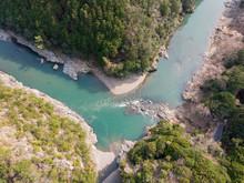 Oi River Flows Between Kameoka...