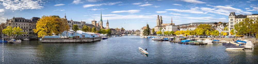 Zürich Stadtpanorama als Panorama Hintergrund