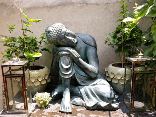 Outdoor Buddha Statue In An Outdoor Garden Stock Photo Adobe Stock