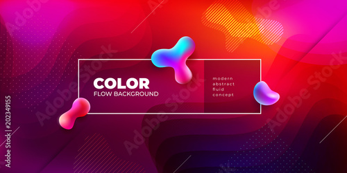 Liquid color background design. Fluid shapes composition. Futuristic design posters. Eps10 vector.