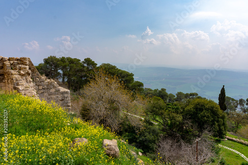 view from the height of Mount Tabor, Galilee, Israel Tapéta, Fotótapéta