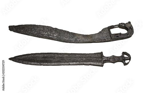 Pinturas sobre lienzo  Illora sword and Almedinilla falcata