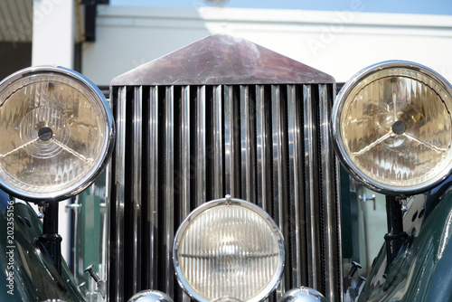 Keuken foto achterwand Vintage cars Old cars very well preserved and polished to a high gloss