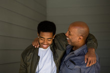 Father Talking And Spending Time With His Son.