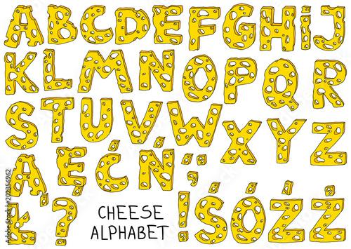 Valokuva  Cheese Alphabet
