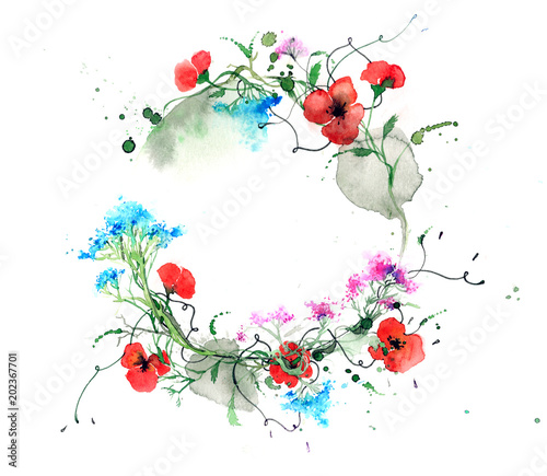 Foto op Canvas Schilderingen wreath
