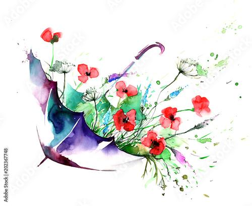 Spoed Foto op Canvas Schilderingen flowers