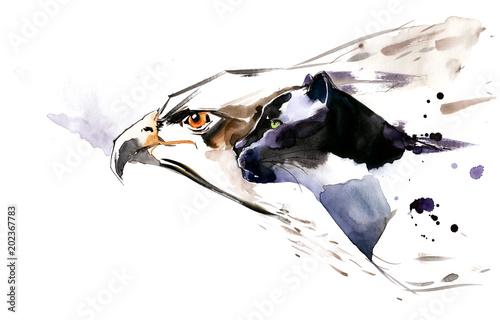 Spoed Foto op Canvas Schilderingen wild animals