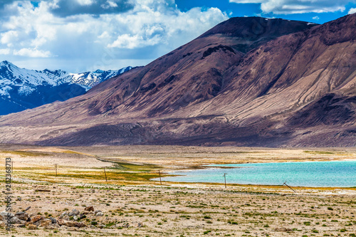 Foto op Aluminium Aubergine Nice view of Pamir in Tajikistan