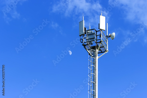 Fotografie, Tablou  Cellular antenna against blue sky