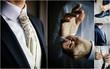 canvas print picture - Men's wedding suit collage - elegant groom suits.