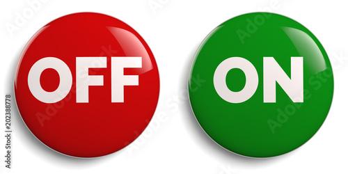 Fényképezés  On Off Buttons Icon Set