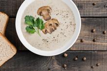 A Bowl Of Mushroom Soup Cream ...