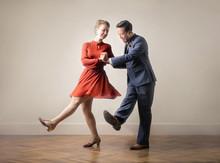 Dancers Dancing Together, Dres...