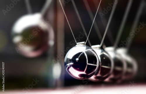 Fotografie, Obraz  Concept For Action and Reaction in Business With Newton's Cradle