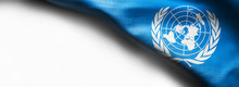 Flag Of United Nations On Whit...