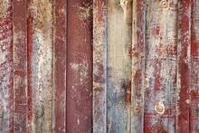 Red Rough Barn Wood Wall Background