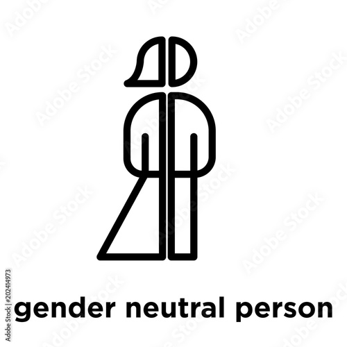 gender neutral person icon isolated on white background buy this stock vector and explore similar vectors at adobe stock adobe stock gender neutral person icon isolated on