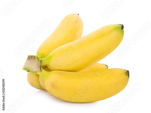 pisang mas bananas isolated on white background
